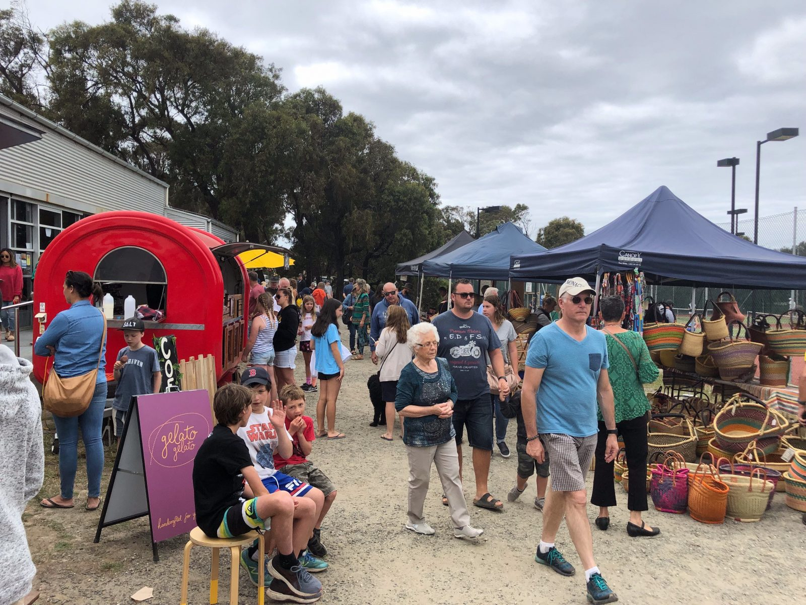 Hot food, cool vibes and local, homemade shopping at popular Aireys Inlet Market on Great Ocean Road