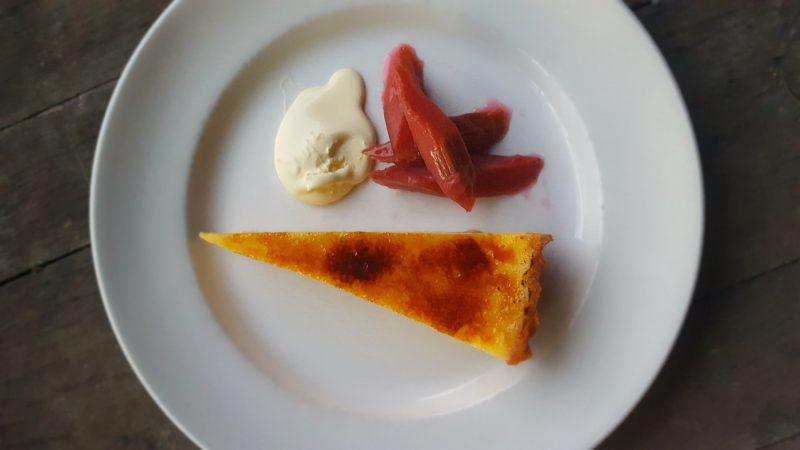 Lemon tart rhubarb