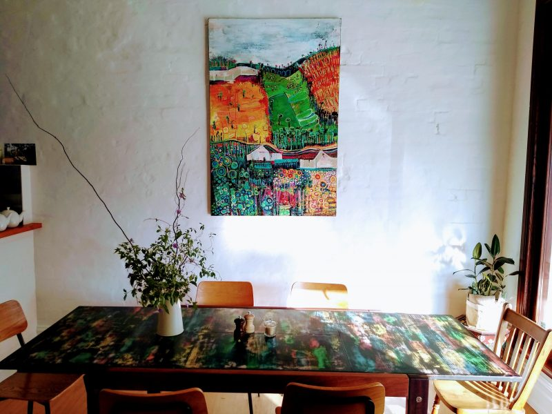 Communal table and Frith's painting