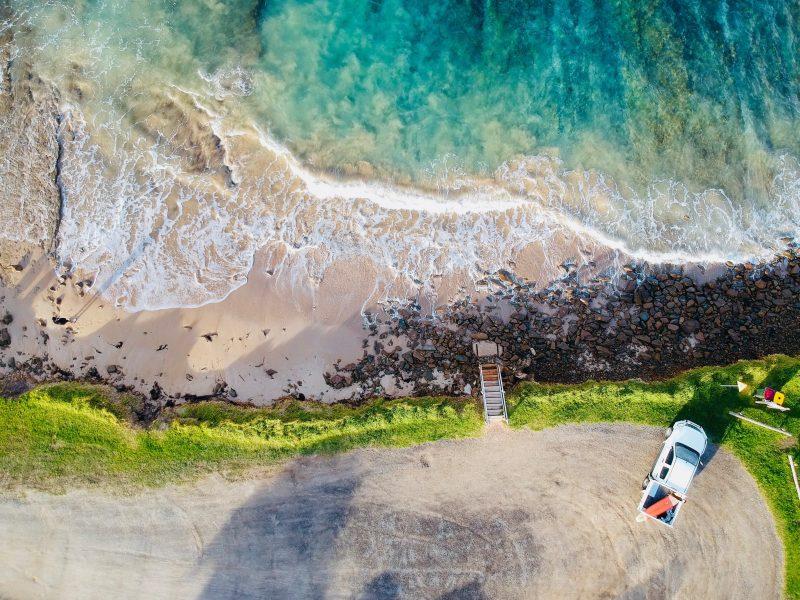 above shot of Great Ocean Road