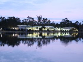 Aquamoves is located behind the picturesque Victoria Park Lake precinct