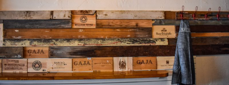 Archive Wine Bar recycled wood panelling