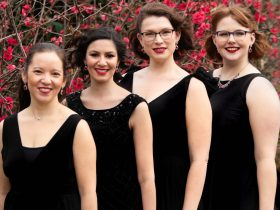 The four performers from Aria Cappella