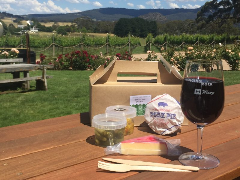 Piper Street Food Co picnic box - Hanging Rock Winery