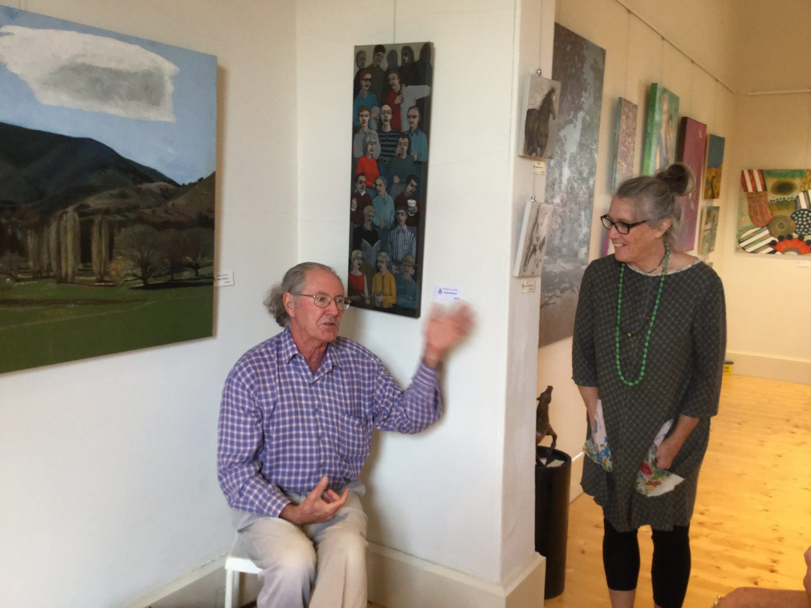 Award winning artist David Mellows discusses his work (background)