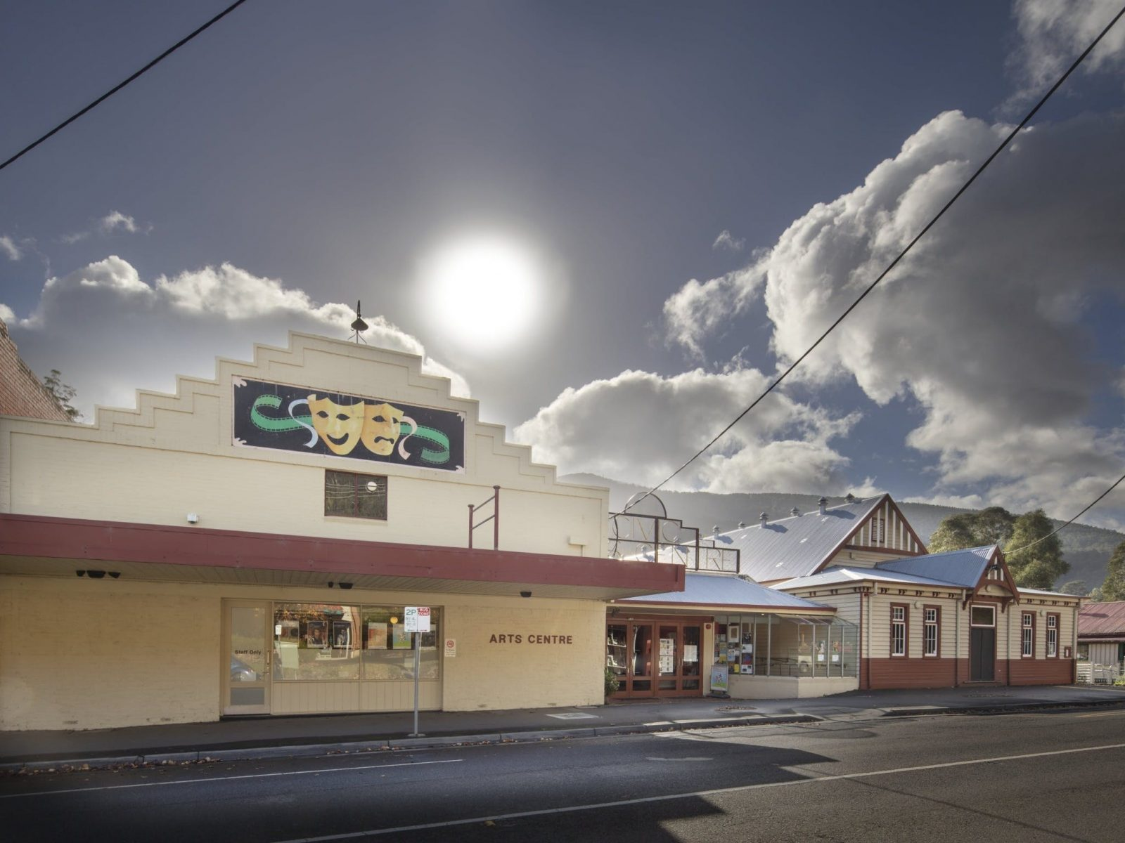 The front of the Arts Centre, Warburton