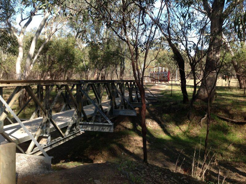 Bridge to Interpretive Boards - Australian Light Horse Memorial Park