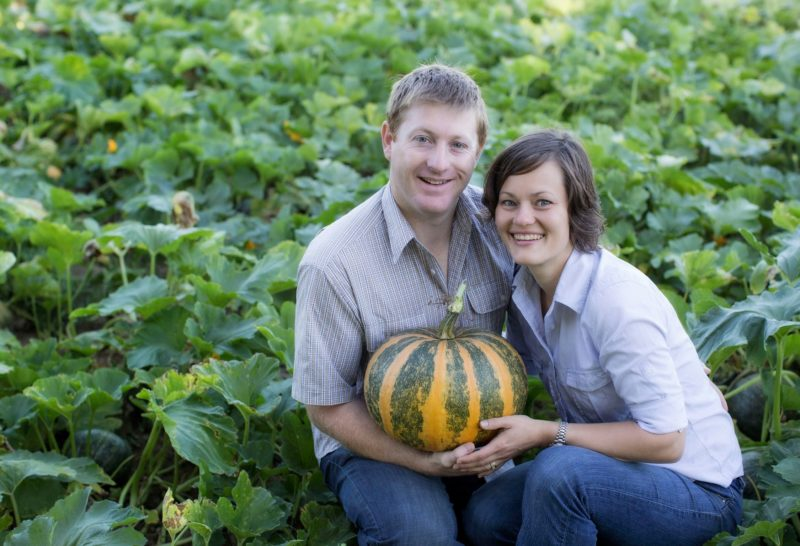 Jay and Sharan in their pumpkin patch.