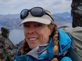 Selfie of Laura Waters on her trek in New Zealand