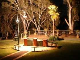 floodlit decking