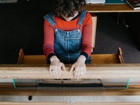 Weaving studio
