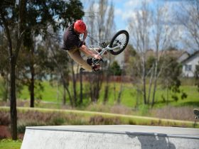 Cyclist on BMX