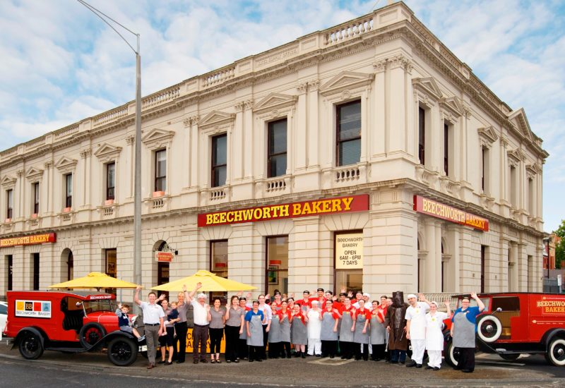 The Ballarat team ready to welcome you to Beechworth Bakery