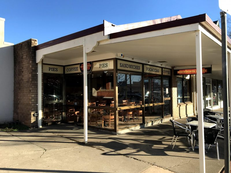 Beechworth Bakery Bright offers plenty of indoor as well as outdoor seating options