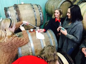 Behind the scenes barrel tasting