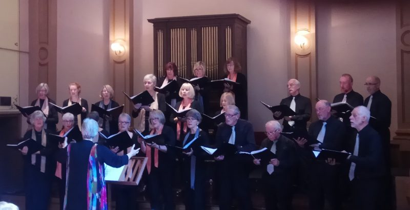 Beechworth Singers at the Town Hall in September 2018