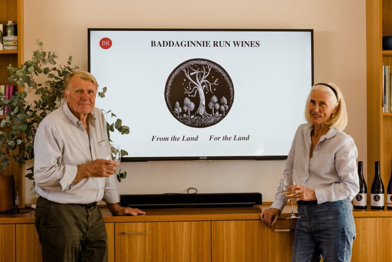 Baddaginnie Run vineyard Snow Barlow and Winsome Mc Caughey
