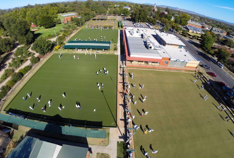 Aerial Benalla Bowls Club
