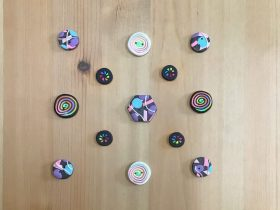 Buttons made from polymer clay