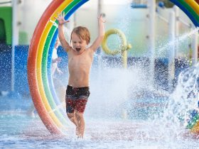 Hours of fun for the kids in the splash park