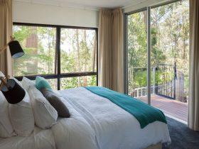luxurious linen, gorgeous pillows and stunning water views