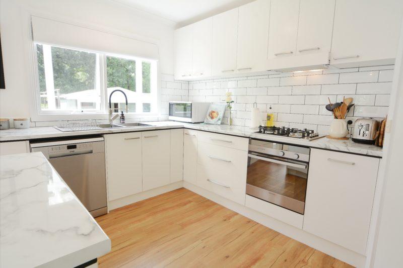 Modern kitchen overlooking garden