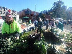 Brown Hill Market veg stall