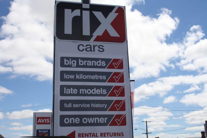 Rix Cars Sign