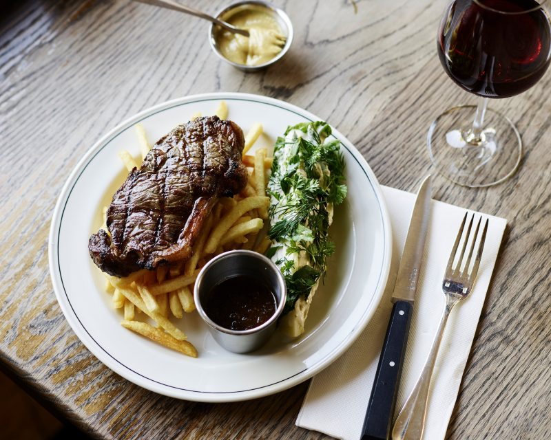 Monday is steak night at the pub