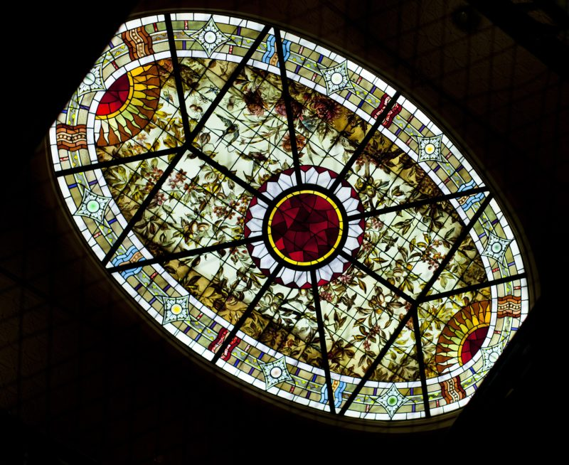 Stained glass at Bundoora Homestead