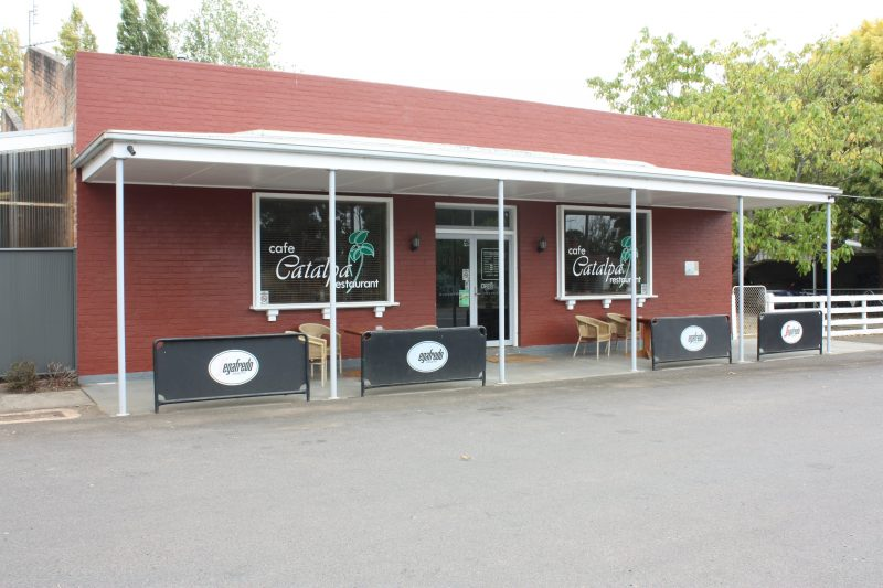 Front of Cafe Catalpa
