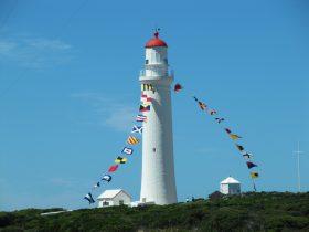 The beautiful lighthouse in full regalia