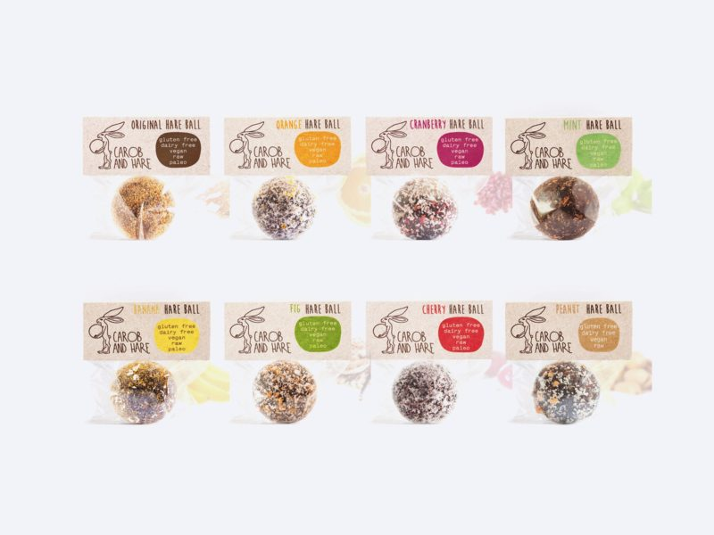 Carob And Hare Hare Ball Flavours