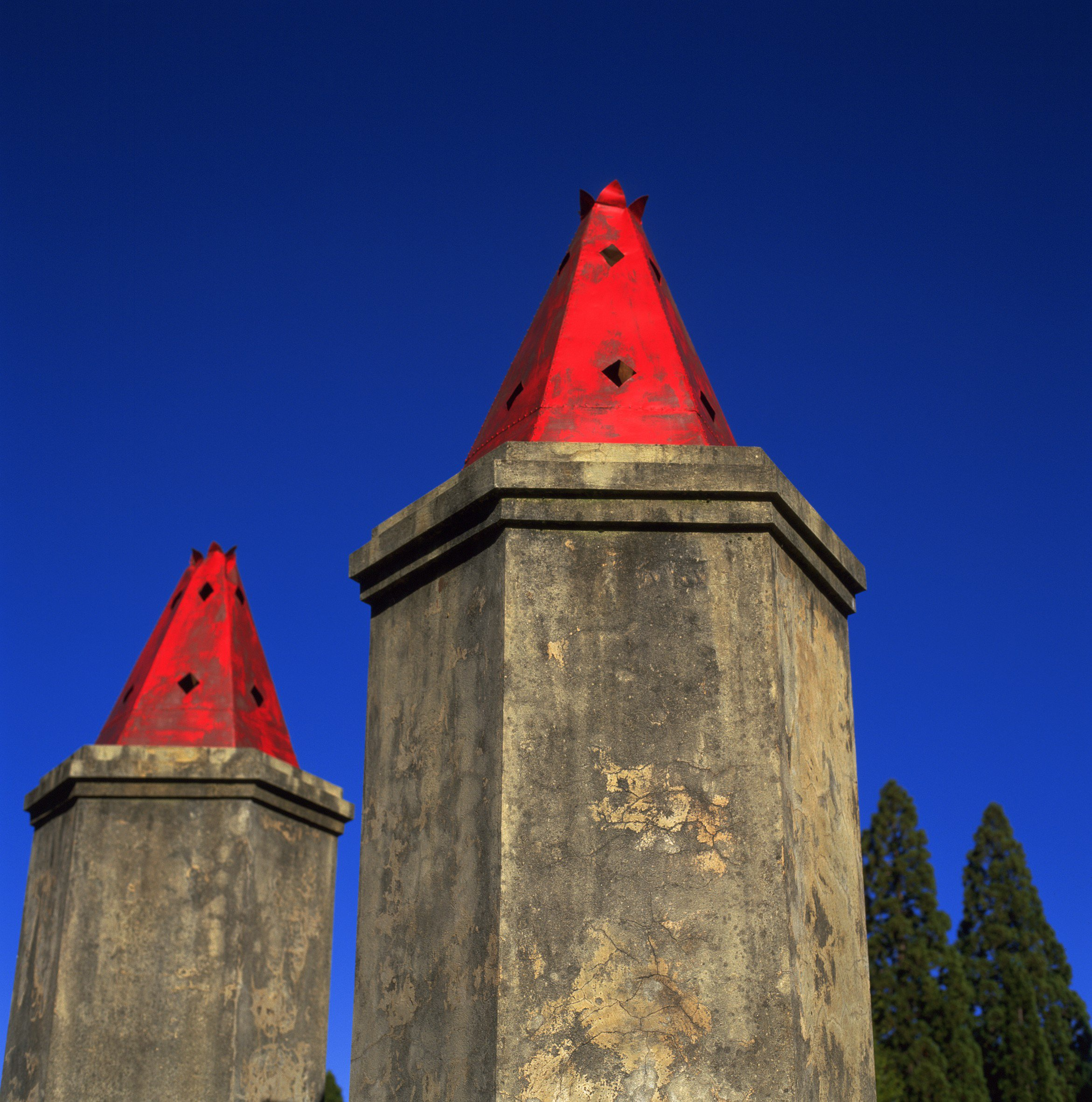 Chinese burning towers