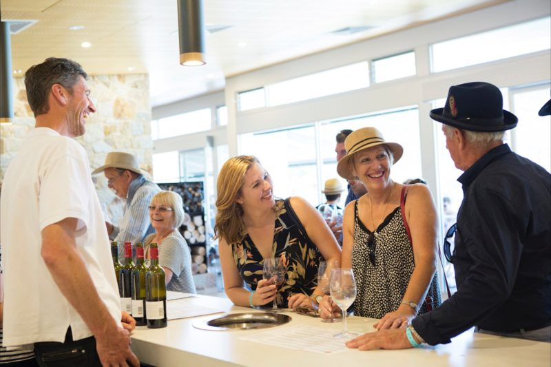 Enjoy a wine tasting with friends at our cellar door
