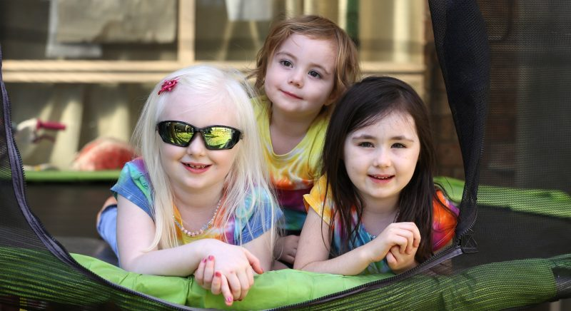 3 Vision Australia clients - girls aged from 3 to 7 years