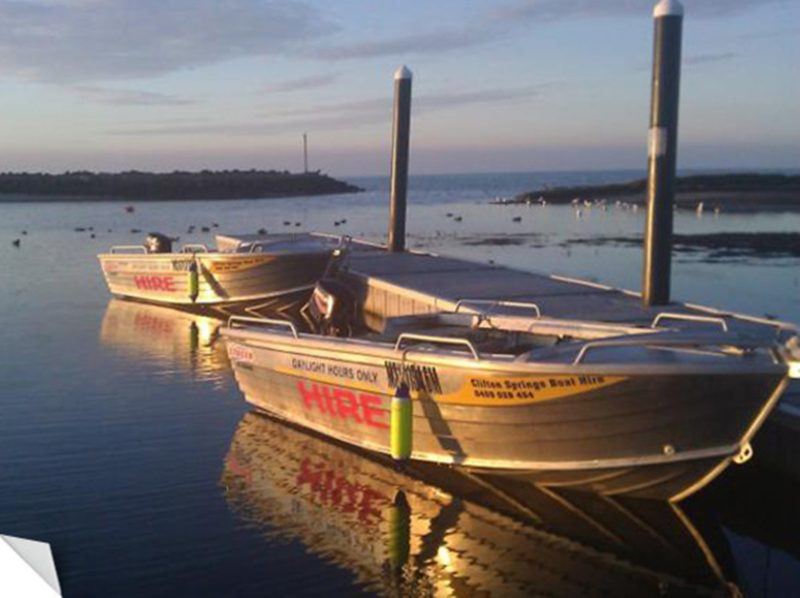 Clifton Springs Boat Hire, Sunset Boats