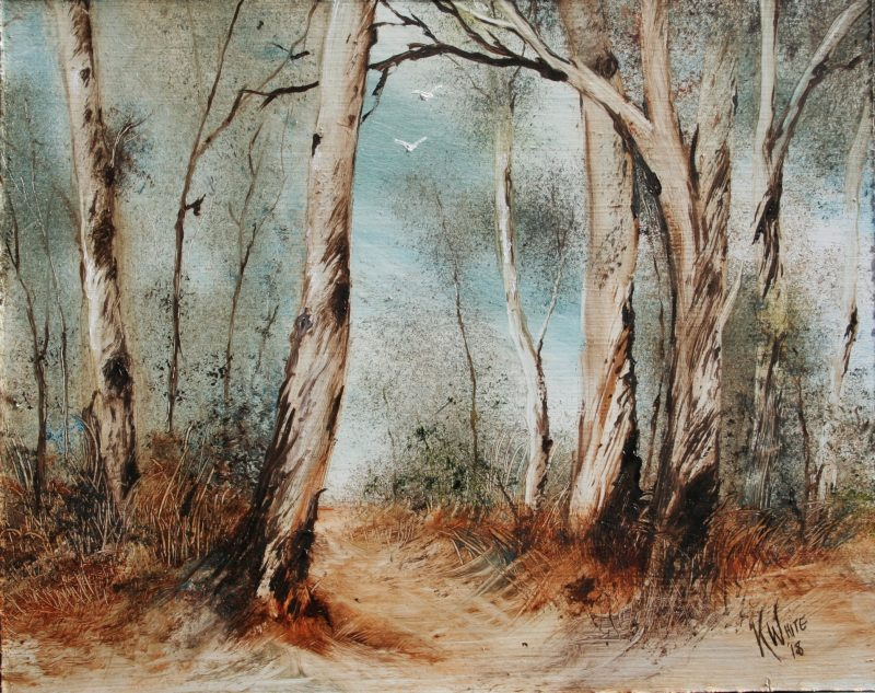 Landscape painting by Kerrie White