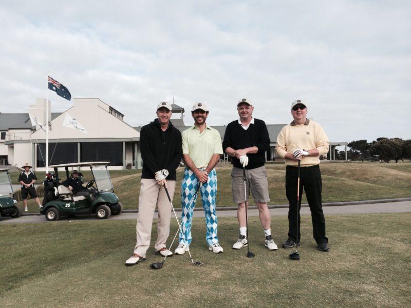 Happy golfers at 13th Beach