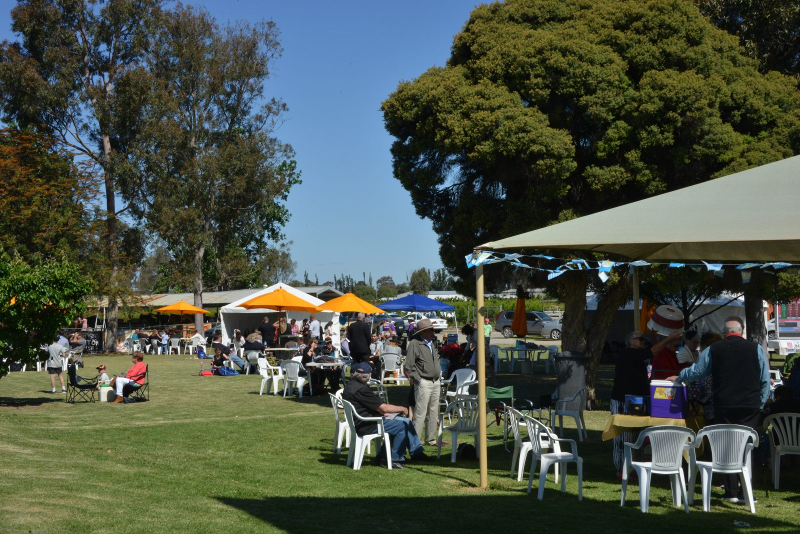 A great picnic atmosphere on Melbourne Cup Day