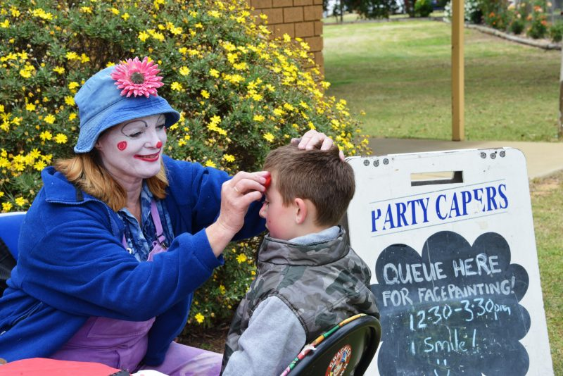 Face painting is popular with the kids on Melbourne Cup Day!