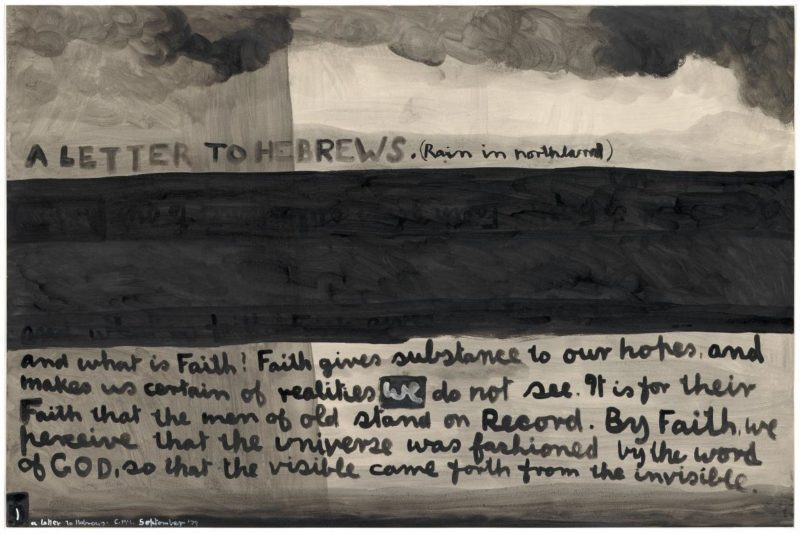 A letter to the Hebrews (Rain in Northland), 1979