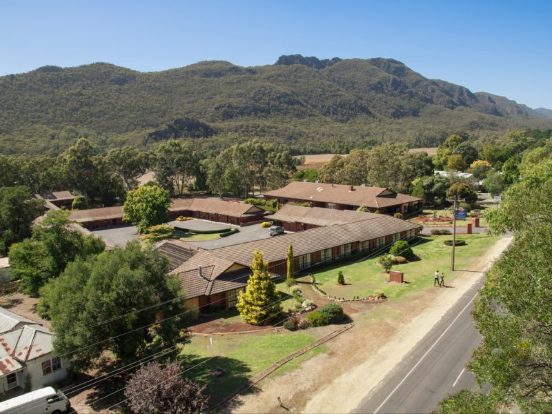 Aerial View of Comfort Inn Country Plaza Halls Gap