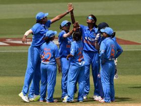 India celebrating a wicket