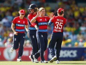 England celebrating