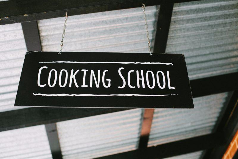 Cooking School Sign