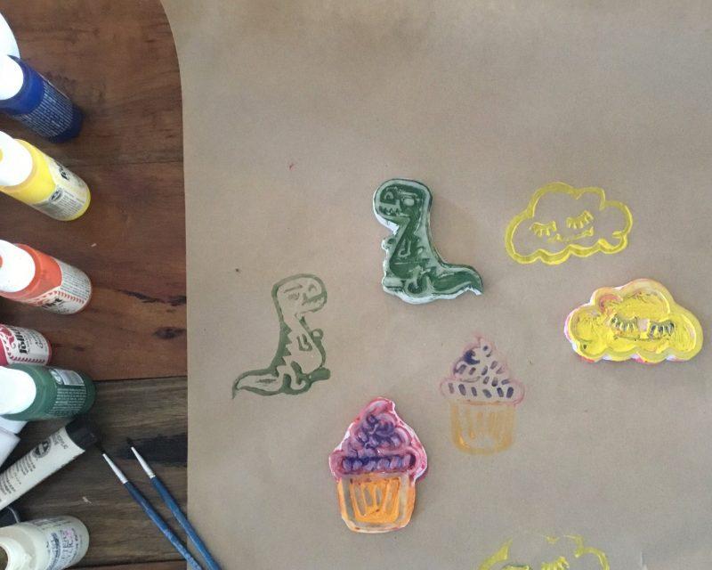 Stamp Carving Workshop in Kyneton Victoria
