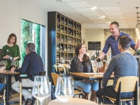 Wine tasting is an experience at the Crittenden Wine Centre