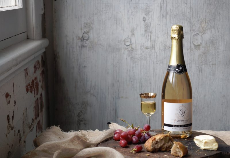 Crofters Fold Estate's single origin blanc de noirs Sparkling Wine.