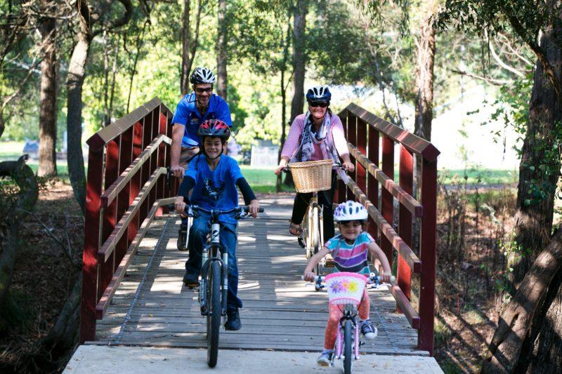 Rail Trail families